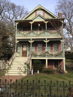 Restored Victorian cottage in Sea Cliff, NY.