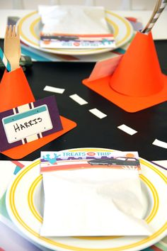 Cars party tablescape