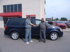Tuesday July 24, Robert from Wilson NC is looking forward to the extra room for his family in this 2012 Dodge Grand Caravan. Thank you Robert for your business. His salesman is Tony Oxendine.
