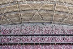 Project: Singapore Sports Hub Location: Singapore Plot: 35 ha. National Stadium dome's span: 310m (the largest in the world) 55˙000-seat National Stadium with a retractable roof and comfort cooling 3˙000-seat OCBC Aquatic Centre, expandable to 6,000 capacity for specific events 3˙000-seat OCBC Arena, a multi-purpose indoor arena, scalable and flexible in layout 41˙000m2 commercial retail space Design: DP Architects, Arup, AECOM Project Year: 2014 Credit photos: DP Architects