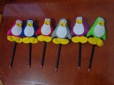 Ponteiras de lápis Club Penguim