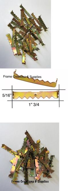 10//20//50 Brass self-attaching nailess sawtooth Picture Canvas Art Frame Hangers