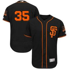 Giants #35 Brandon Crawford Black Flexbase Authentic Collection Alternate Stitched MLB Jersey