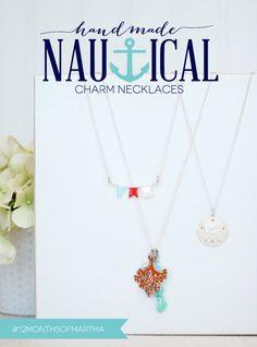 Create nautical necklaces with Martha Stewart Crafts Jewelry  #marthastewartcrafts #12MonthsofMartha