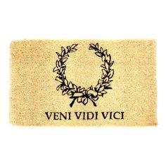 Veni Vidi Vici Doormat, £16, now featured on Fab.