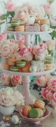 Roses and Macarons ~ Debbie ❤