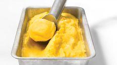 Sorbet minute à la mangue et au citron #IGA #Recettes #Dessert