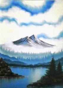 Roof of the World Oil on canvas 71 cm x 61 cm World Oil, Irish Art, Olympus Digital Camera, Fine Art America, Oil On Canvas, Digital Art, Mountains, Places, Mad