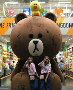 Lisa and Lena with the brown line emoji in Seoul Korean Stationery, Stationery Store, Korean Fashion Trends, Korea Fashion, Women's Fashion, Lisa Or Lena, Kpop Shop, South Korea Travel, Shopping Places