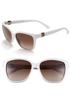 Brand new authentic GUCCI Sunglasses in color 0Vk6 White. This Sunglasses frame size is 56-15-135. This model is a, Female frame and comes with everything you would receive if you purchased it at a local retail store. Shop with confidence. #gucci #coupay #coupons
