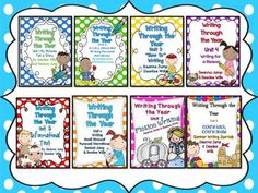 Writing Through the Year Bundle Complete Set 1-8 {Aligned with Common Core} # Kindergarten, # First Grade, # Second Grade