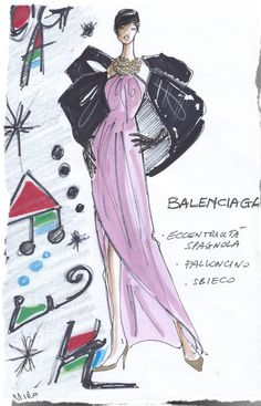 Balenciaga by Beatrice Brandini from www.beatricebrandini.it