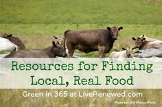 Great List of Resources for Finding Local, Real Food from LiveRenewed.com