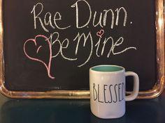Rae Dunn Clay Mug New Blessed Blue Gift Coffee Tea Kitchen House Warming  #RaeDunn