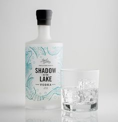 Legend Craft Distillery: Shadow in the Lake Vodka by Also Known As: Packaging and Design, via Behance