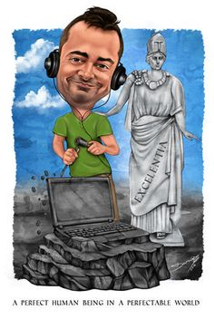 Darius is a caricaturist at Caricature King #caricatureart #retirementgift #50thbirthdaygiftidea #customart