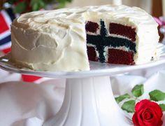 Stor marsipankake med mokkakrem   Det søte liv Red Velvet Flavor, Food Humor, Baking Recipes, Cake Decorating, Ice Cream, Pudding, Sweets, Snacks, Desserts