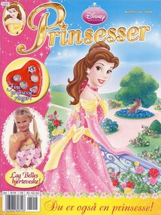 Cover for Disney Prinsesser (Hjemmet / Egmont, 1999 series) Brave Princess, Princess Belle, Disney Princesses, Disney Characters, Kids Living Rooms, Magic Symbols, Comics Story, Disney Marvel, Disney Pictures