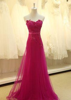 Sweet Heart,Flower Decoration,Custom Made Evening Dress