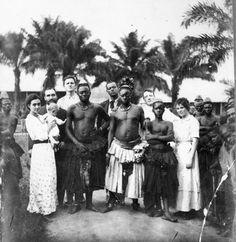 Luebo -Presbyterian Missionaries and Bakuba Chief - c 1915