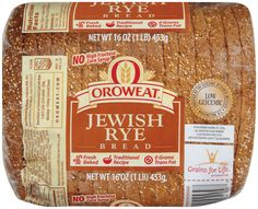 Made with rye flour, our Jewish Rye has a firm texture that's perfect for all of your favorite toppings and spreads.