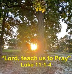 """God Morning from Trinity, TX Today is Wednesday 10-6-2021 Day 279 in the 2021 Journey Make It A Great Day, Everyday! """"Lord, teach us to Pray"""" Today's Scriptures: Luke 11:1-4 ...""""Lord, teach us to pray, as John also taught his disciples."""" So He said to them, """"When you pray, say: Our Father in heaven, Hallowed be Your name... Scripture For Today, Luke 11, Our Father In Heaven, Pray, Lord, Country Roads, Jan 1, Journey, Teaching"""