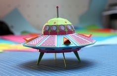 Meticulously Handcrafted Paper Objects by Zim & Zou. Such fun & Games for Kids, Families, and Collectors Who Love Space Vehicles! 3d Paper, Paper Toys, Paper Crafts, Foam Crafts, Origami Templates, Box Templates, Colossal Art, Paper Illustration, Paper Artwork
