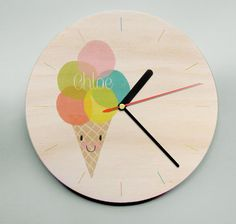 I scream, you scream, we all scream for ice cream!!! Head to mwolfeclocks@etsy.com now to buy your own personalised ice cream clock!