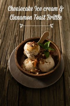 An eggless, flourless, butter and cream free ice cream made from sliced white bread. Served with a cinnamon toast brittle. An ode to bread. Cheesecake Ice Cream, Ice Cream Desserts, Frozen Desserts, Ice Cream Recipes, Sweet Desserts, Frozen Treats, Dessert Recipes, Brittle Recipes, Popsicle Recipes