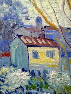 Vincent van Gogh View of Arles, detail 1889