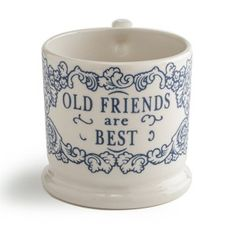 Old Friends Are Best Half Pint Mug by Doris & Co, the perfect gift for Explore more unique gifts in our curated marketplace. Old Friends, Gifts For Friends, British Gifts, Half Pint, Unique Gifts For Her, Better Half, Dory, Unique Jewelry, Handmade Gifts