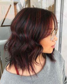 Strähnen braune haare mit roten Braune haare