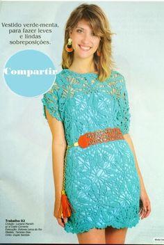 DE MIS MANOS TEJIDOS Y MAS...: Lindo vestido verde menta