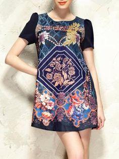 Retro Baroque Embroidery Dress