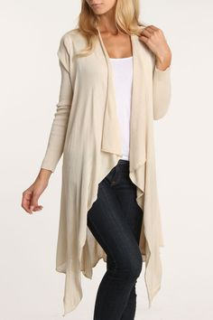 Draped Cardigan. a turquoise necklace. and boots. <3 LOVE.