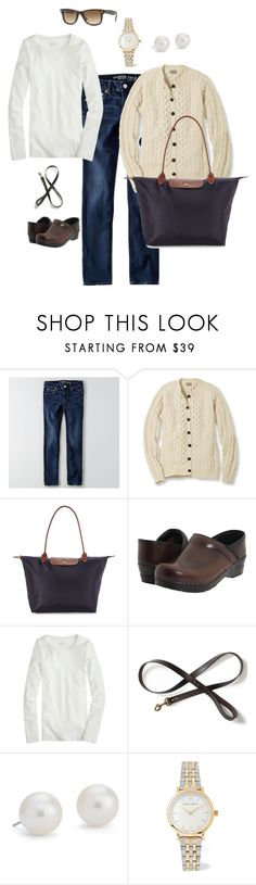 """Saturday Morning"" by salemery on Polyvore featuring American Eagle Outfitters, L.L.Bean, Longchamp, Sanita, J.Crew, Filson, Blue Nile, Larsson & Jennings and Ray-Ban"