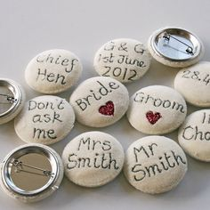 embroidered word brooches by snapdragon | notonthehighstreet.com