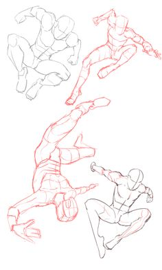 spider man practice01 Body Reference Drawing, Drawing Reference Poses, Art Drawings Sketches, Cool Drawings, Fighting Drawing, Sketch Poses, Poses References, Drawing Expressions, Art Poses