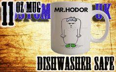 Game of thrones Mr Hodor Mr Men style, GoT novelty custom print mug/cup