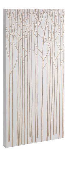 CARVE Décoration murale Blanc Bois