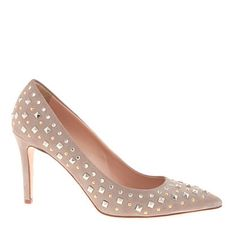 Collection Everly studded pumps   JCrew