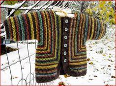 Casaquinho de tricô com listras - infantil