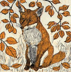 'Little Red Fox' by Vanessa Lubach - Blank Art Cards From Green Pebble