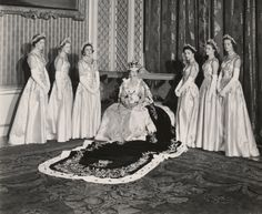 Dress designed by Norman Hartnell, worn by the Maids of Honor at the coronation of Queen Elizabeth II, June 2, 1953 (click for more)