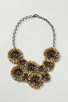 Gilded Daisies Necklace #anthropologie #necklace #jewelry