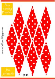 free printable mini bunting - polka dot bunting party decoration - ausdruckbare Wimpelgirlande - freebie | MeinLilaPark – digital freebies