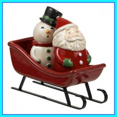Grasslands Road Christmas Gathering Santa & Snowman Salt and Pepper With Sled for sale online Salt N Pepper, Salt Pepper Shakers, Sleds For Sale, Pan Storage, Remembering Mom, Polymer Clay Christmas, Pineapple Upside, Xmas Ornaments, Cookie Jars