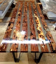 37 Stunning Resin Wood Table Design Ideas You Will Love - For several reasons, resin furniture has become a popular alternative to wooden furniture created for outdoor use. It looks similar to painted wood, b. Epoxy Wood Table, Wooden Tables, Wooden Desk, Woodworking Furniture Plans, Woodworking Projects, Woodworking Lathe, Wood Projects, Wood Table Design, Resin Furniture