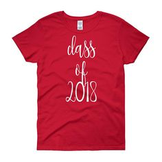 Women's Senior 2018 Shirt Class of 2018 Senior Gifts Senior Gift 2018 Class High School Shirt Senior 2018 Shirt Senior T Shirt 2018 by 25VintagePlace