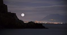 Full Moon/Lunar Perigee in Double Exposure by Sabrina Campagna, via Flickr